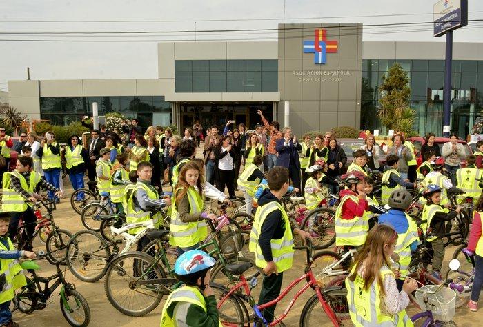 Más de 200 niños participaron de la Bicicleteada de la Asociación Española en Ciudad de la Costa