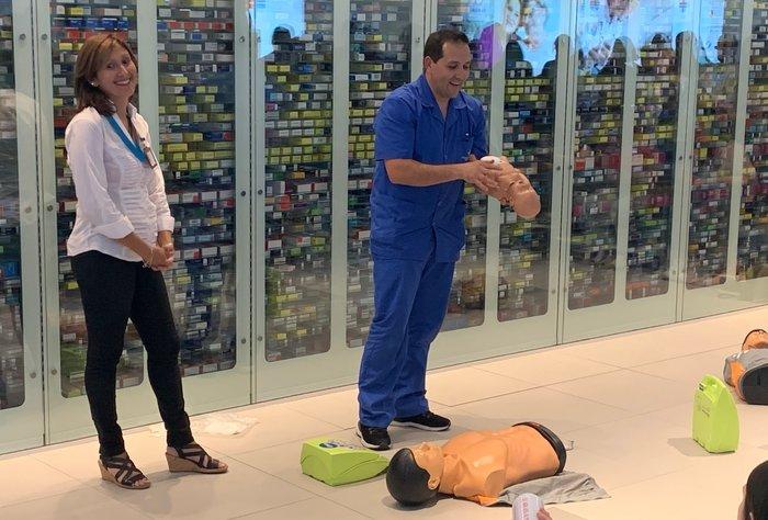 Jornada de Reanimación Cardio-Pulmonar en Punta Carretas Shopping