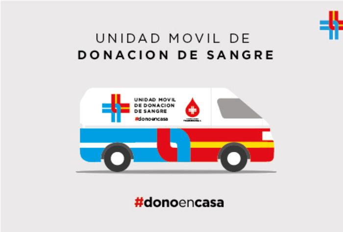 Unidad móvil de donación de sangre