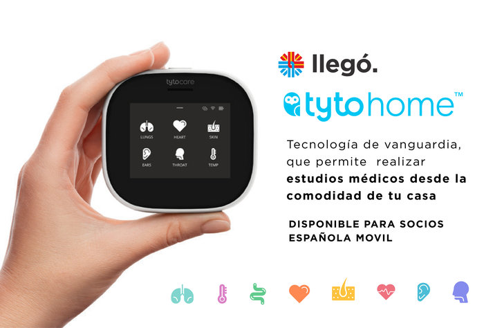 Llegó Tyto Home a Española Móvil, un dispositivo para realizar estudios médicos desde tu casa