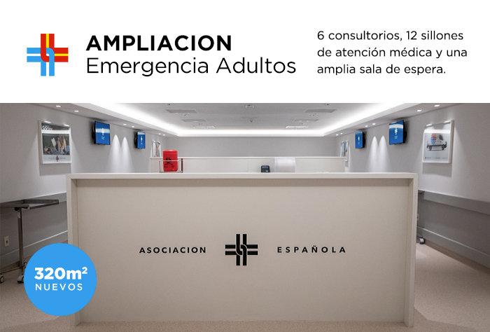 La Asociación Española amplió su moderna emergencia de adultos