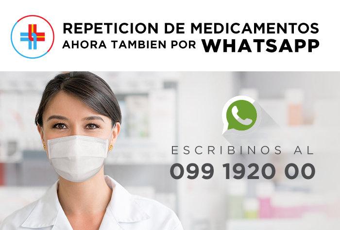 Repetición de medicamentos ahora también por Whatsapp