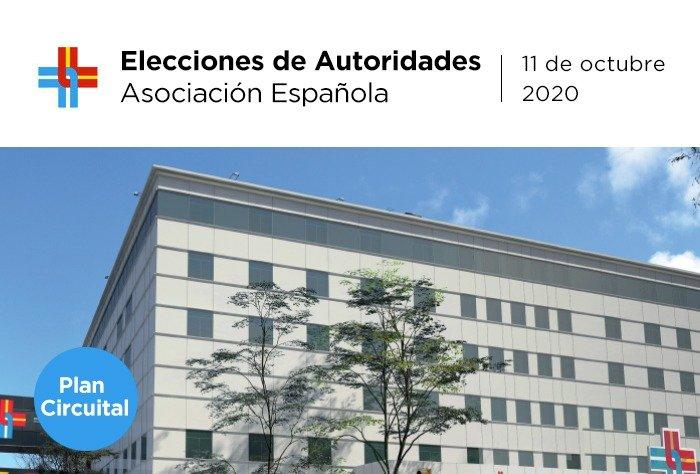 Plan circuital de elecciones de autoridades 2020 en Asociación Española