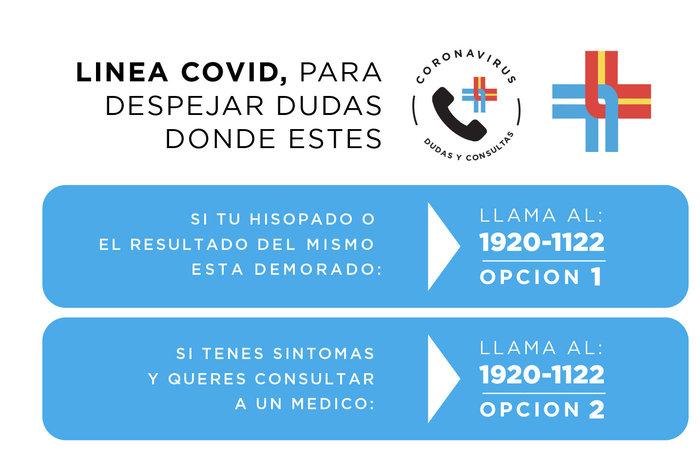 Línea Covid de la Española para despejar dudas