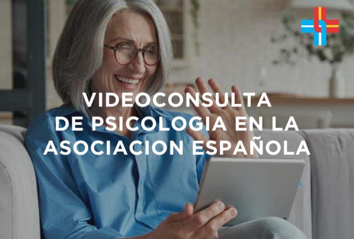 Videoconsulta de Psicología en la Asociación Española